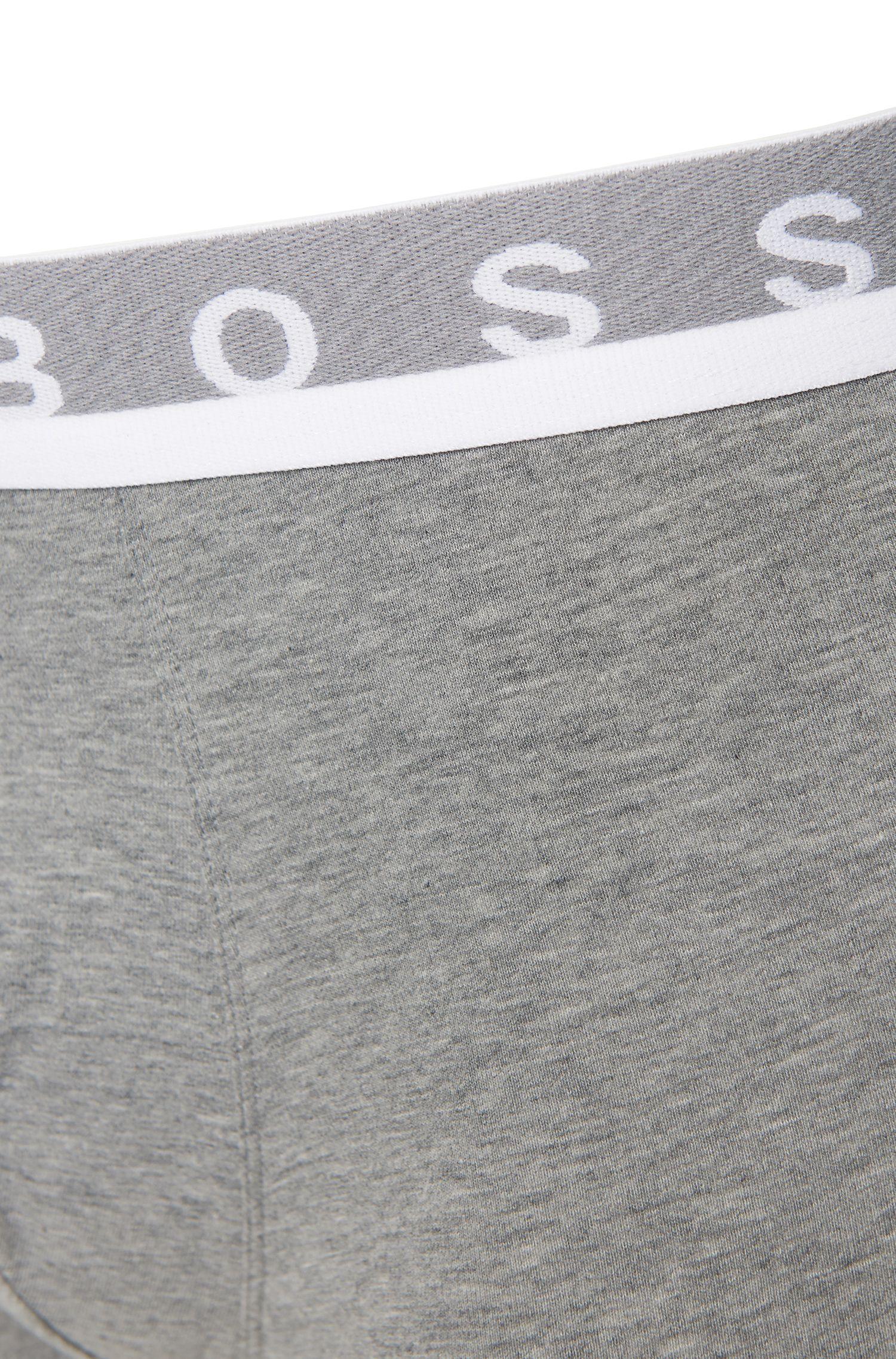 Boxershorts aus Stretch-Baumwolle mit mittlerer Bundhöhe , Grau