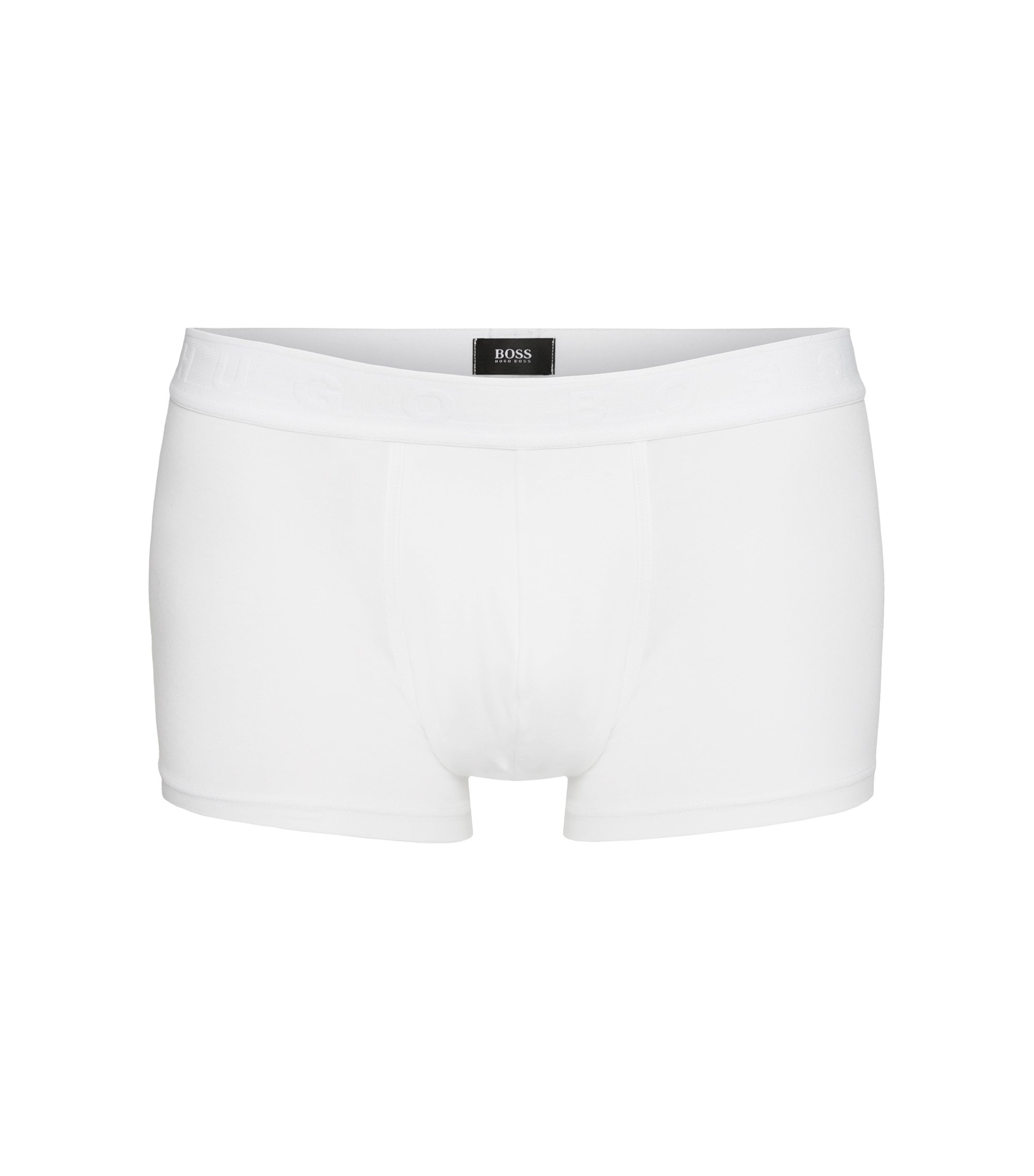 Boxers Regular Rise en jersey stretch, Blanc