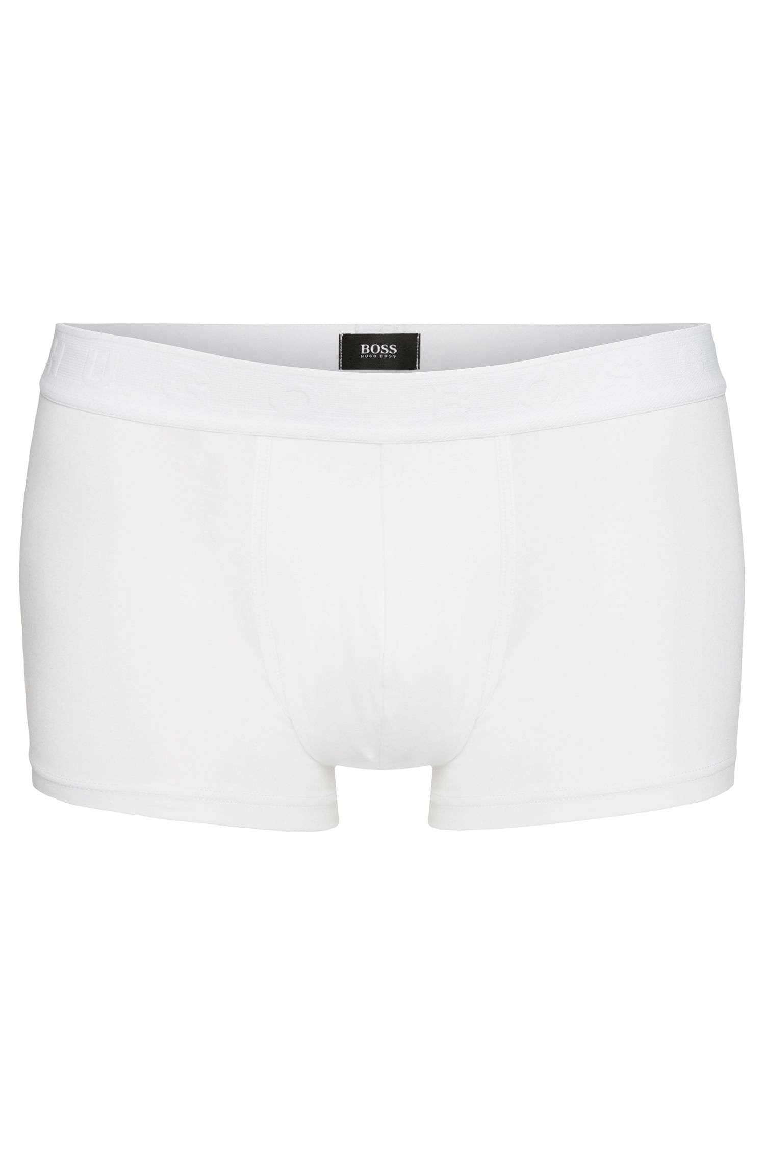 Regular-rise boxershort van jersey met stretch, Wit