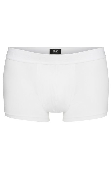 Regular-rise boxers in stretch jersey, White