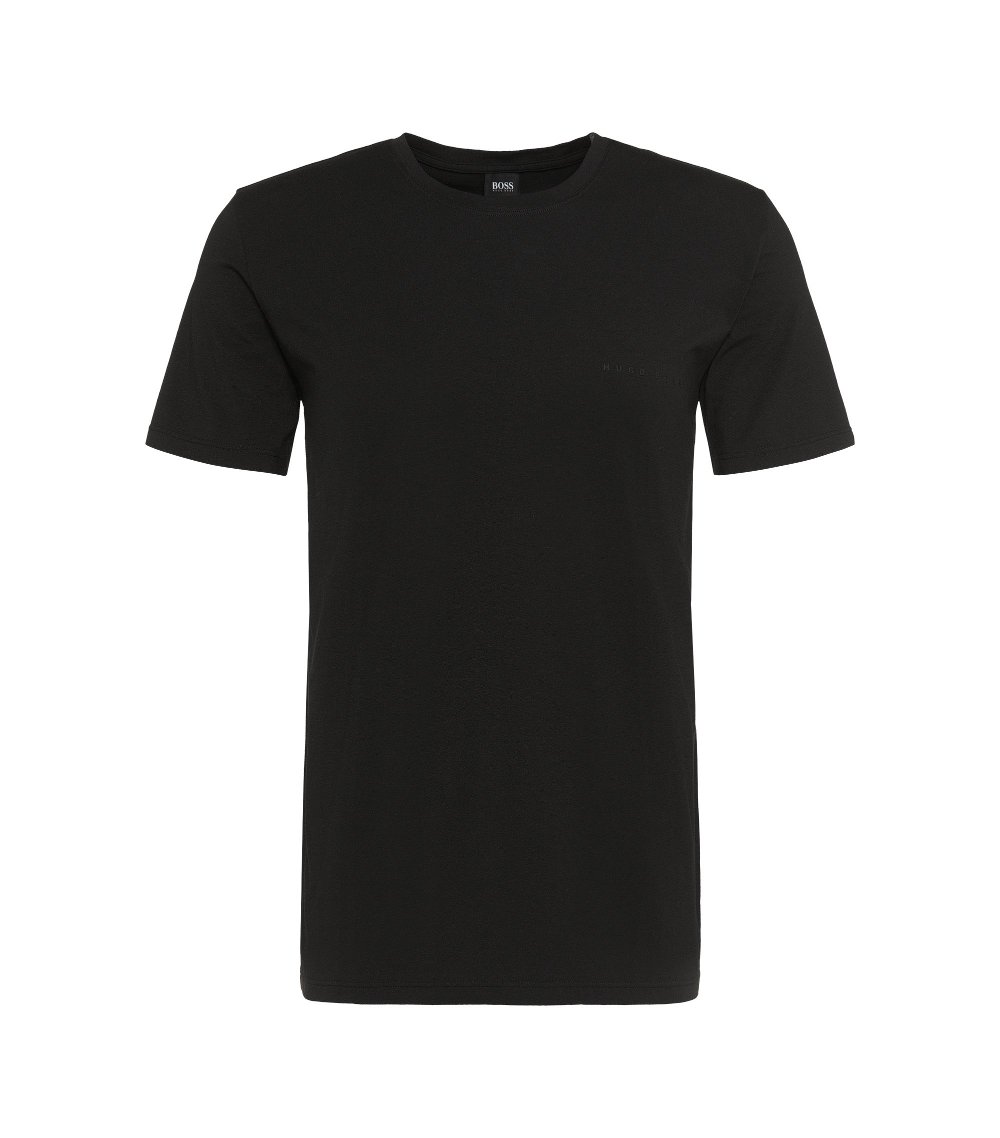 Relaxed-fit T-shirt in stretch single jersey, Black