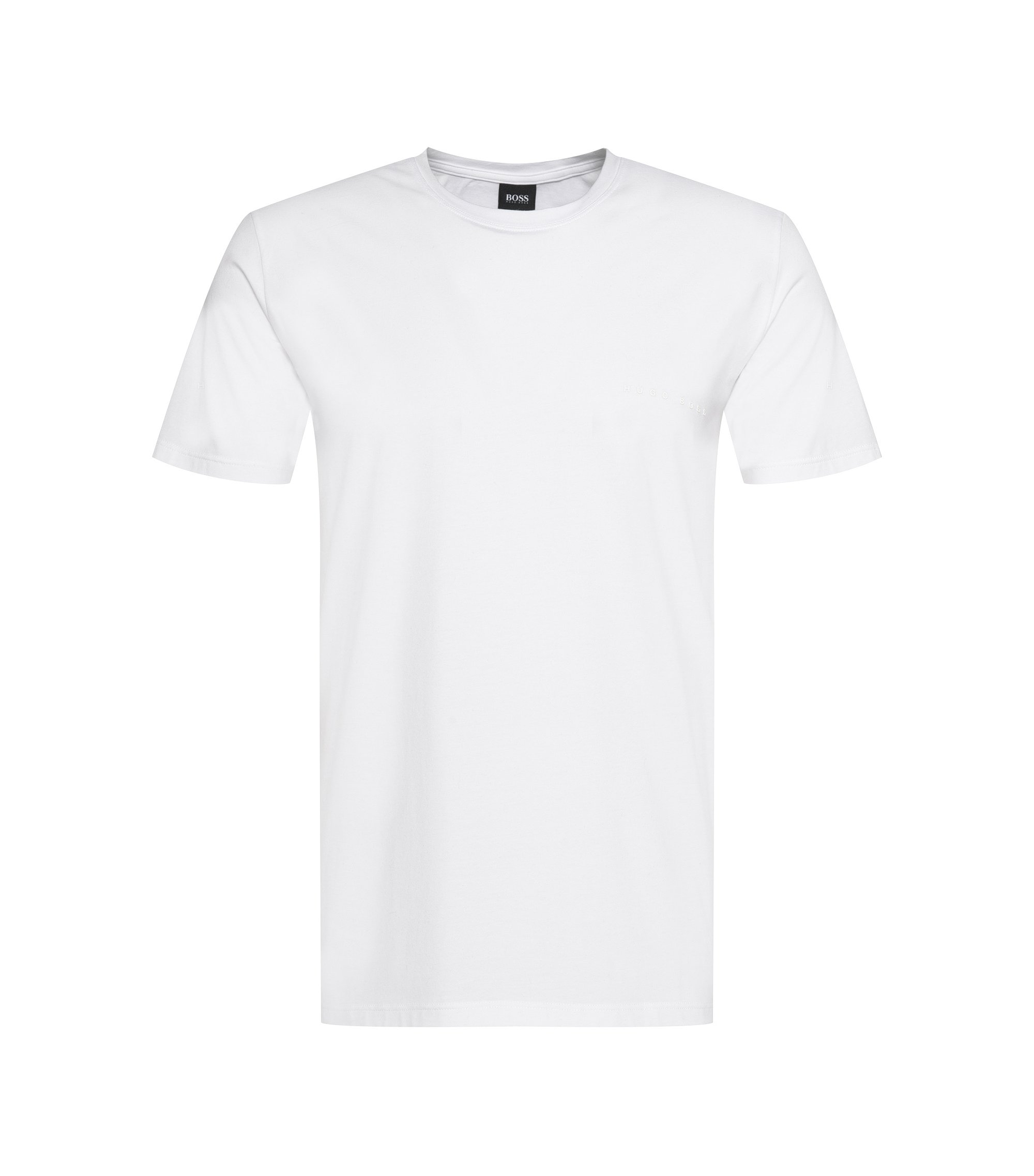 T-shirt Relaxed Fit en jersey simple stretch, Blanc