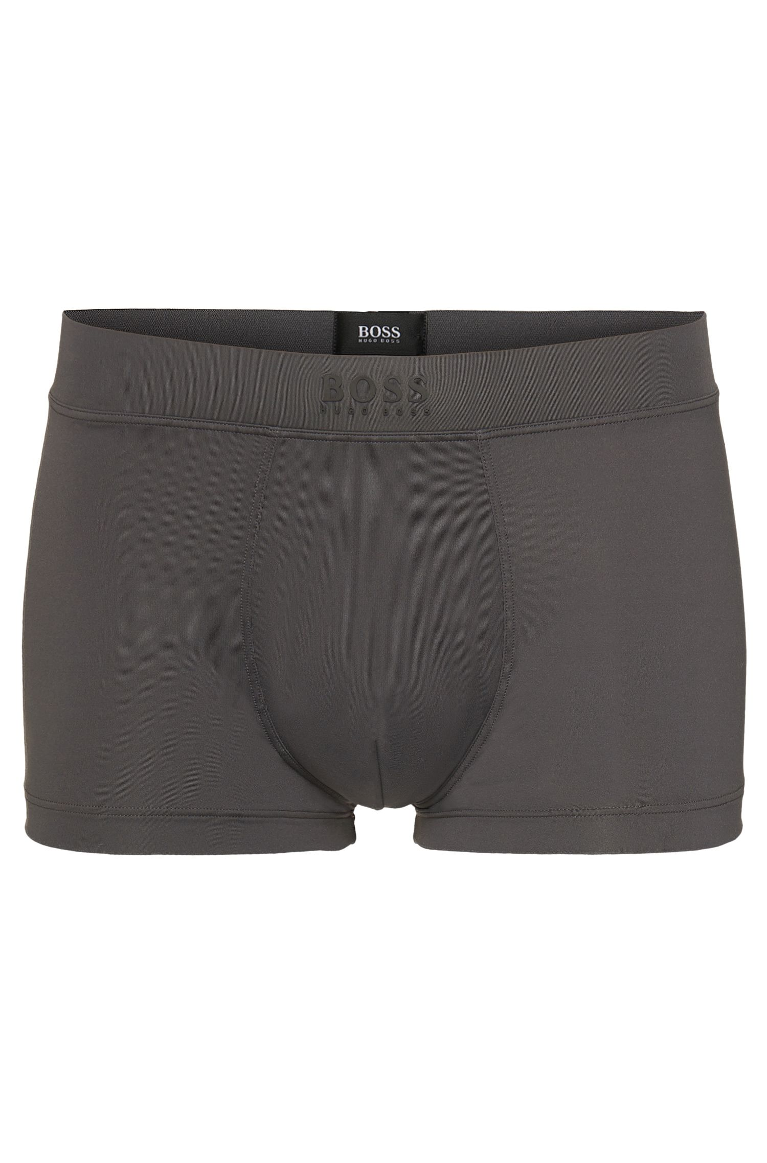 Boxers Regular Rise en tissu stretch, Gris
