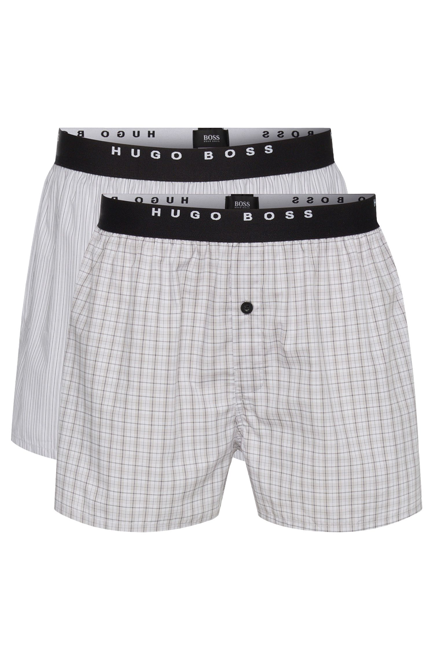 Double pack of boxer shorts in cotton poplin