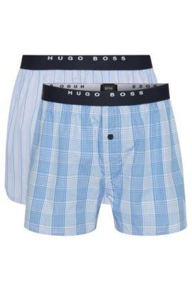 Boxershorts aus Baumwoll-Popeline im Zweier-Pack , Hellblau