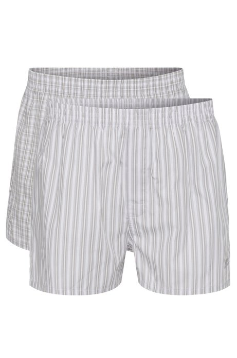 Double pack of boxers in cotton poplin , Open Grey