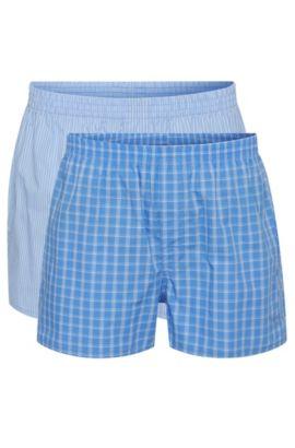 Set van twee boxers van katoenpopeline , Lichtblauw