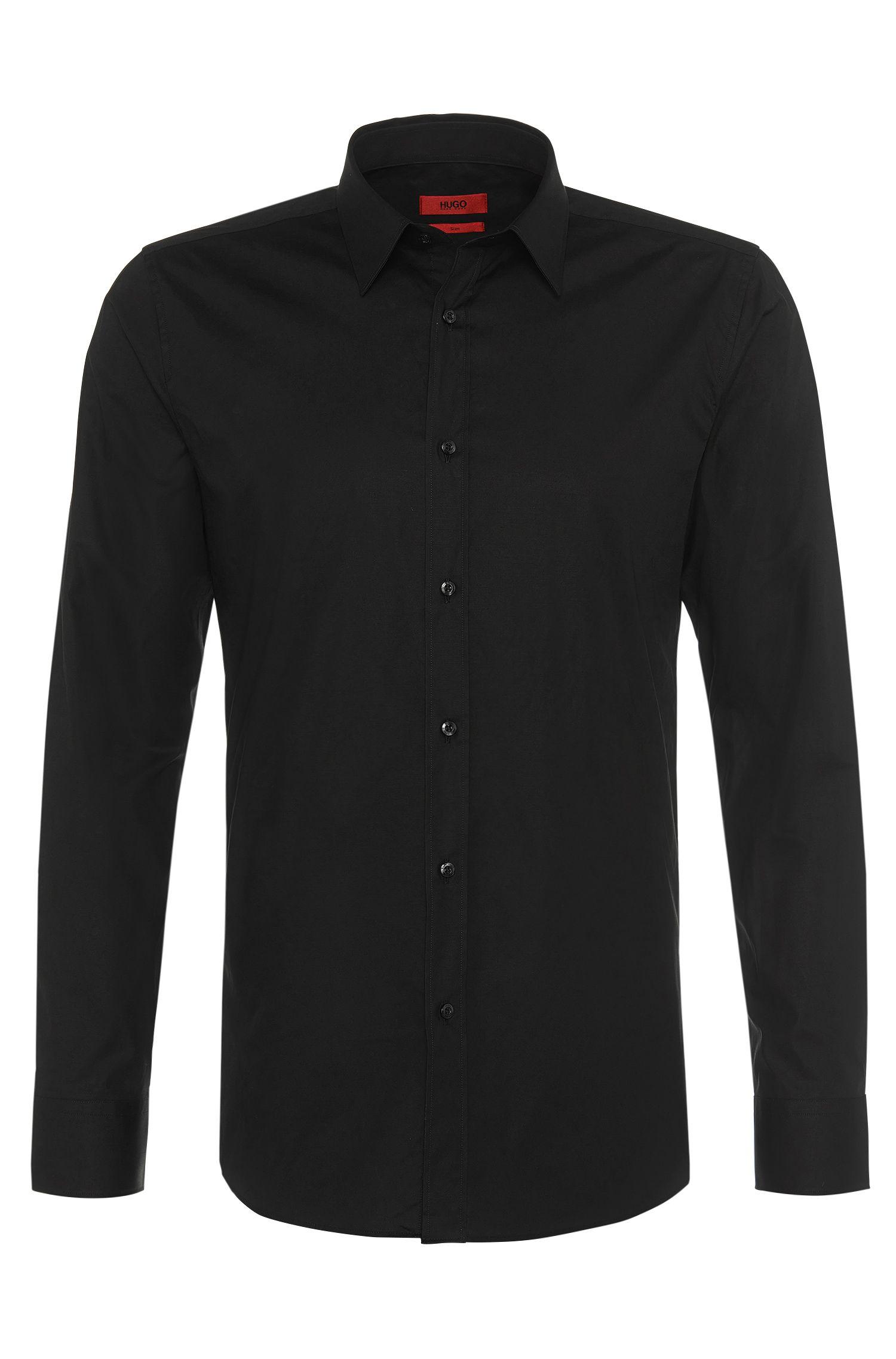 Slim-Fit Hemd aus Stretch-Baumwolle: 'Elisha'