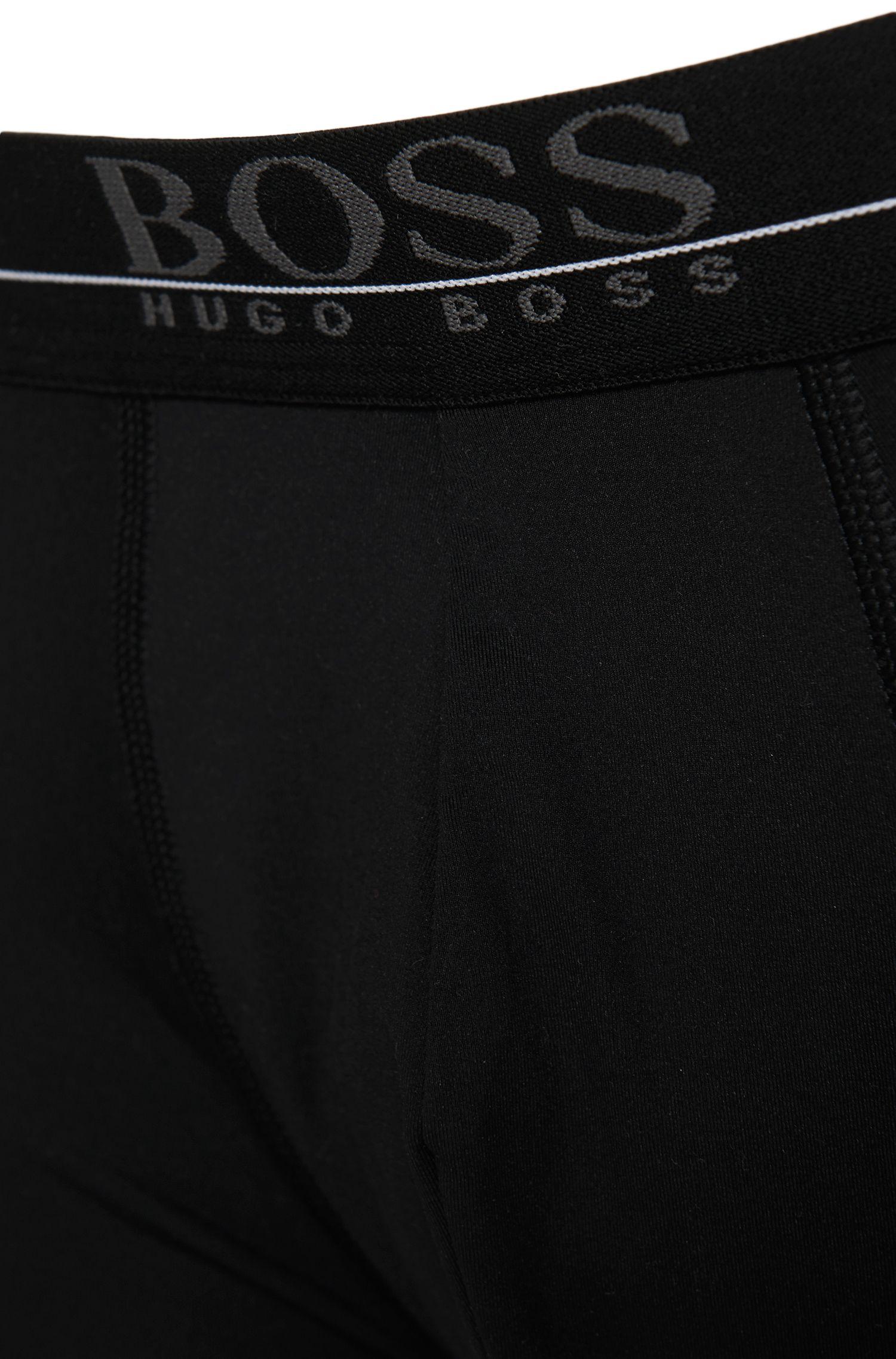 Regular-rise boxer briefs in stretch fabric , Black