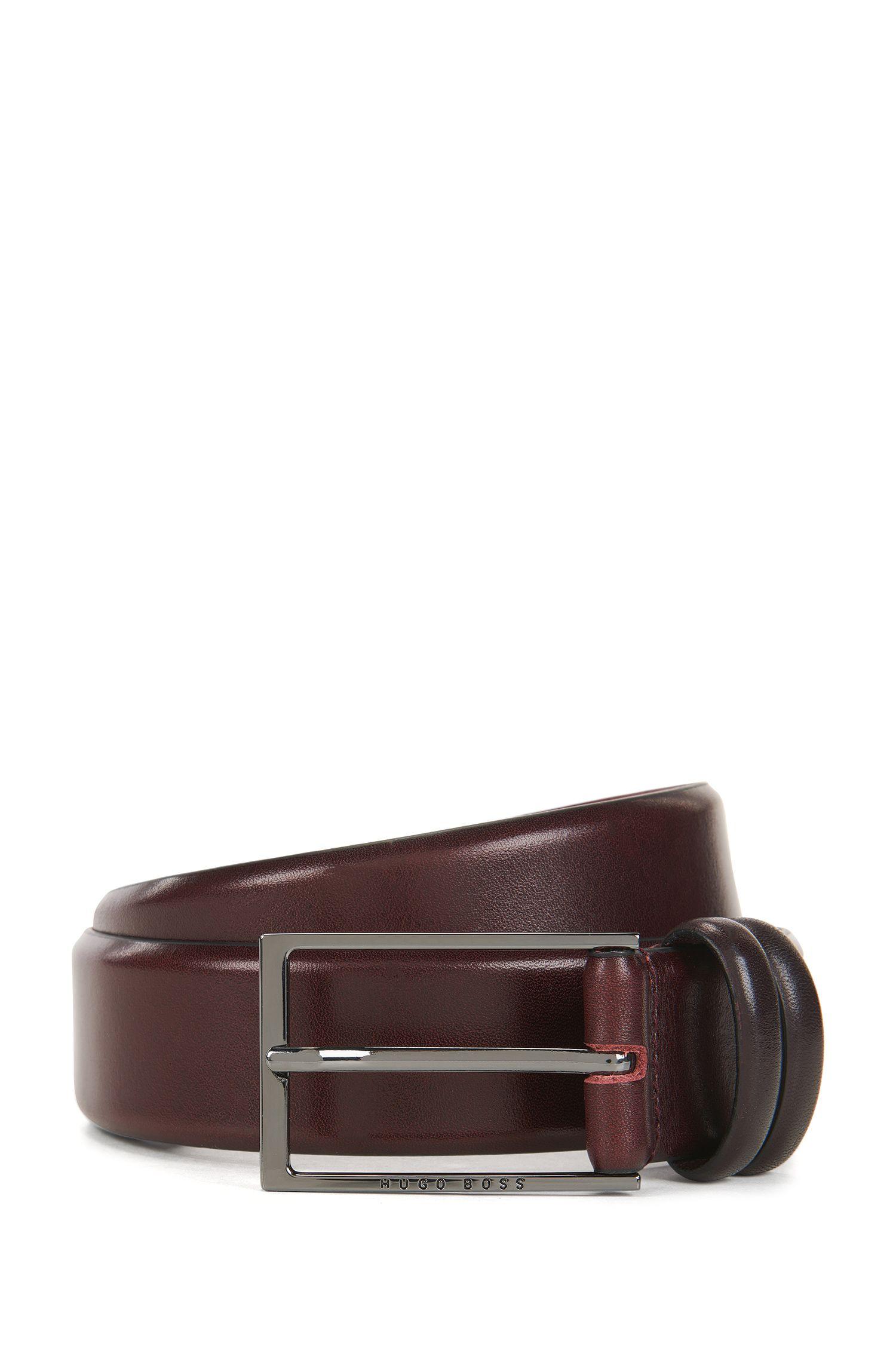 Cintura bicolore in pelle conciata al vegetale