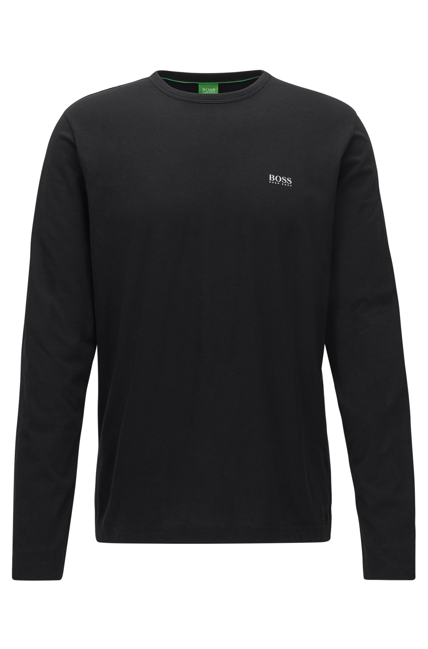 Regular-Fit Longsleeve aus Baumwolle