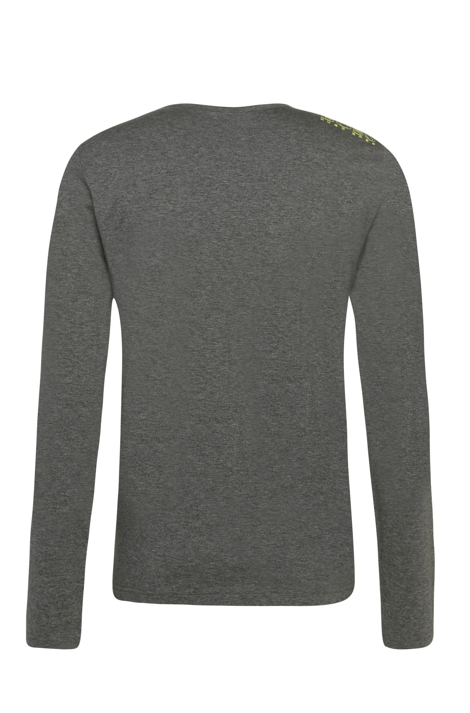 T-shirt Regular Fit à manches longues en coton, Gris