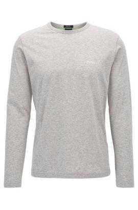 T-shirt à manches longues «Togn» en coton, Gris chiné