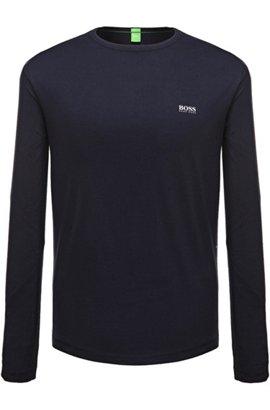 Regular-fit long-sleeved cotton T-shirt, Dark Blue