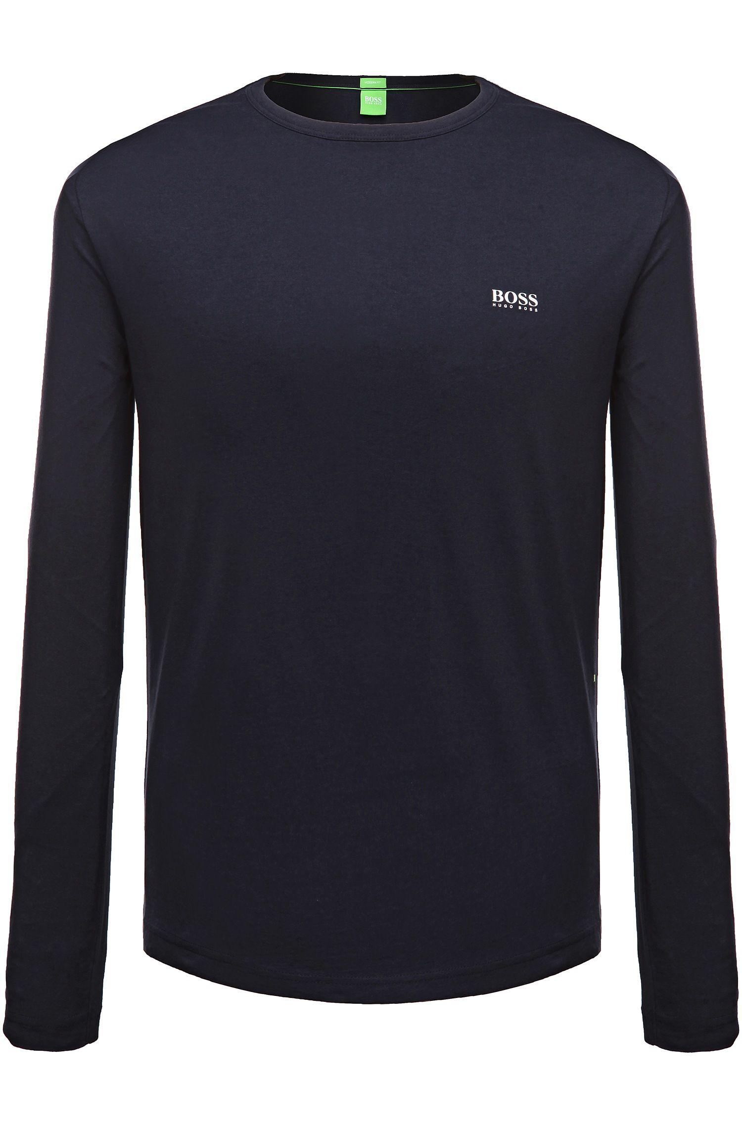 Regular-fit long-sleeved cotton T-shirt
