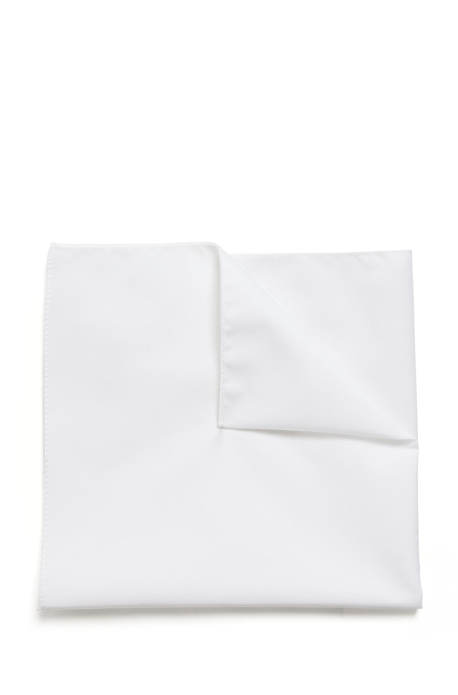 Pochette jacquard en pur coton, Blanc
