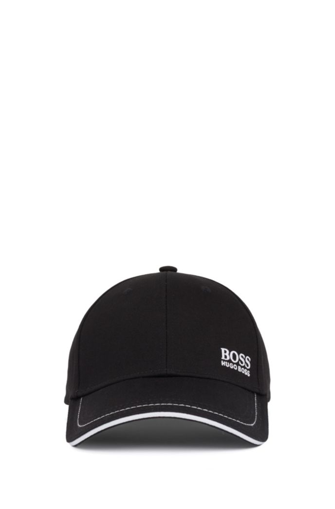 Cotton-twill cap with lasered logo closure