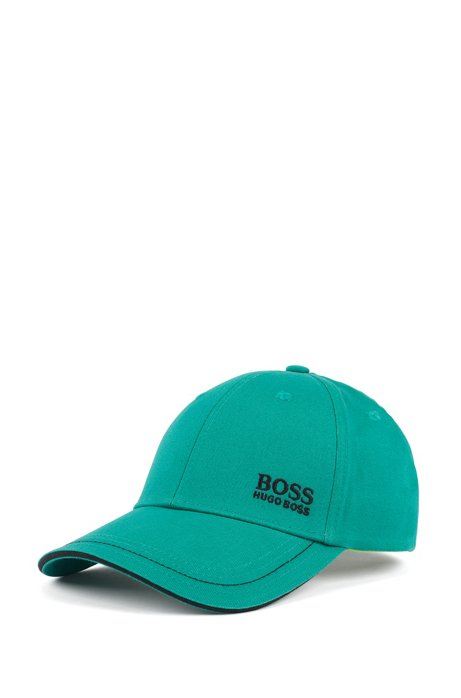Baseball cap in cotton twill with embroidered logo , Light Green