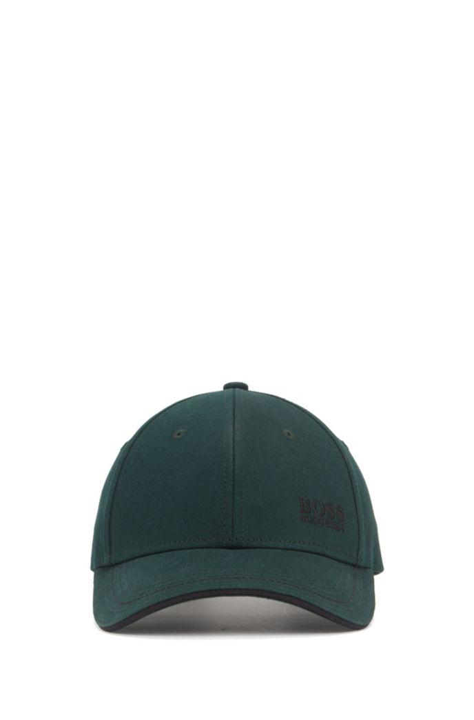 Gorra de béisbol en sarga de algodón con logo bordado