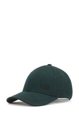 Gorra de béisbol en sarga de algodón con logo bordado , Verde