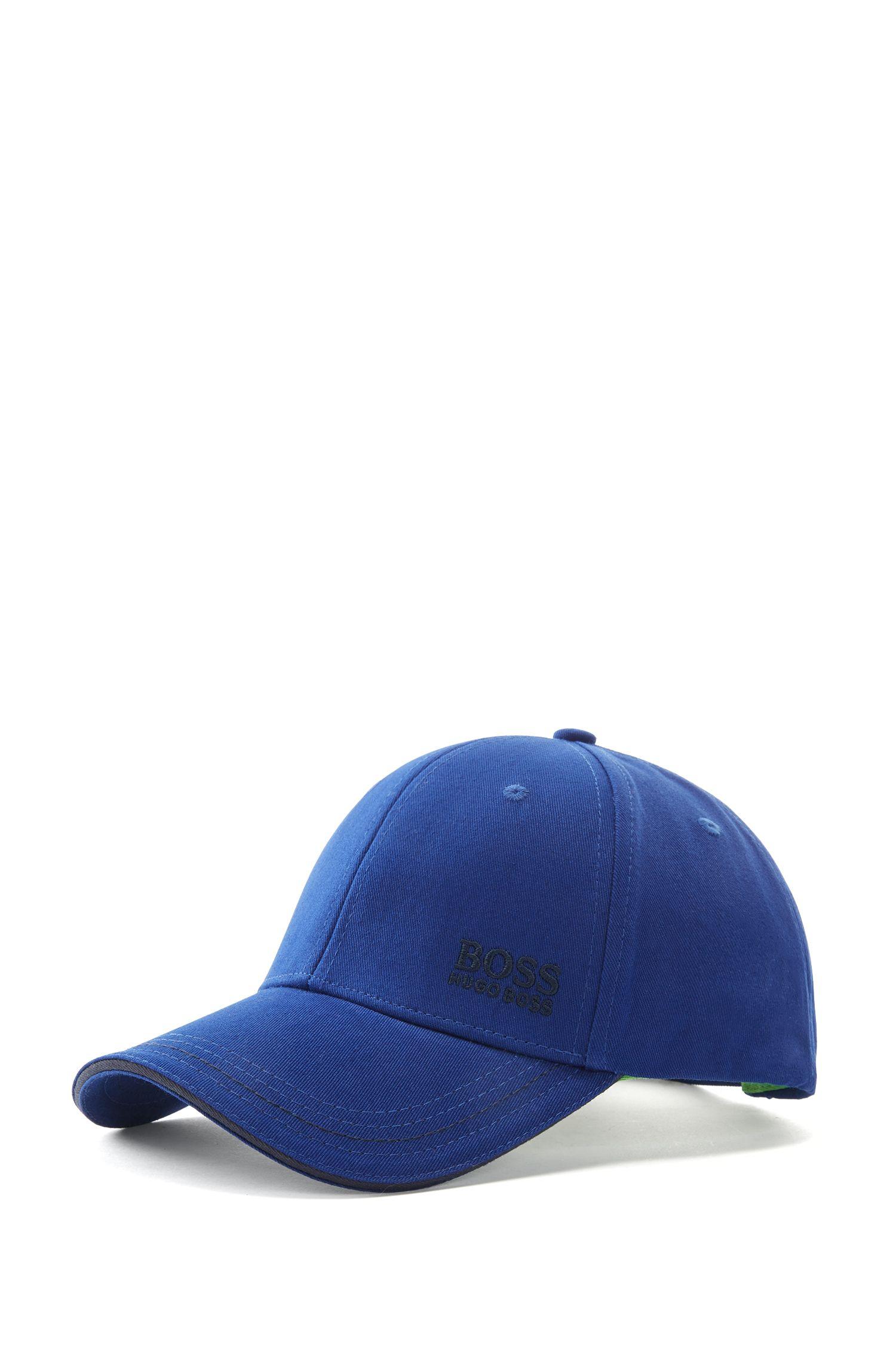 Casquette de base-ball en twill de coton, à logo brodé , Bleu foncé