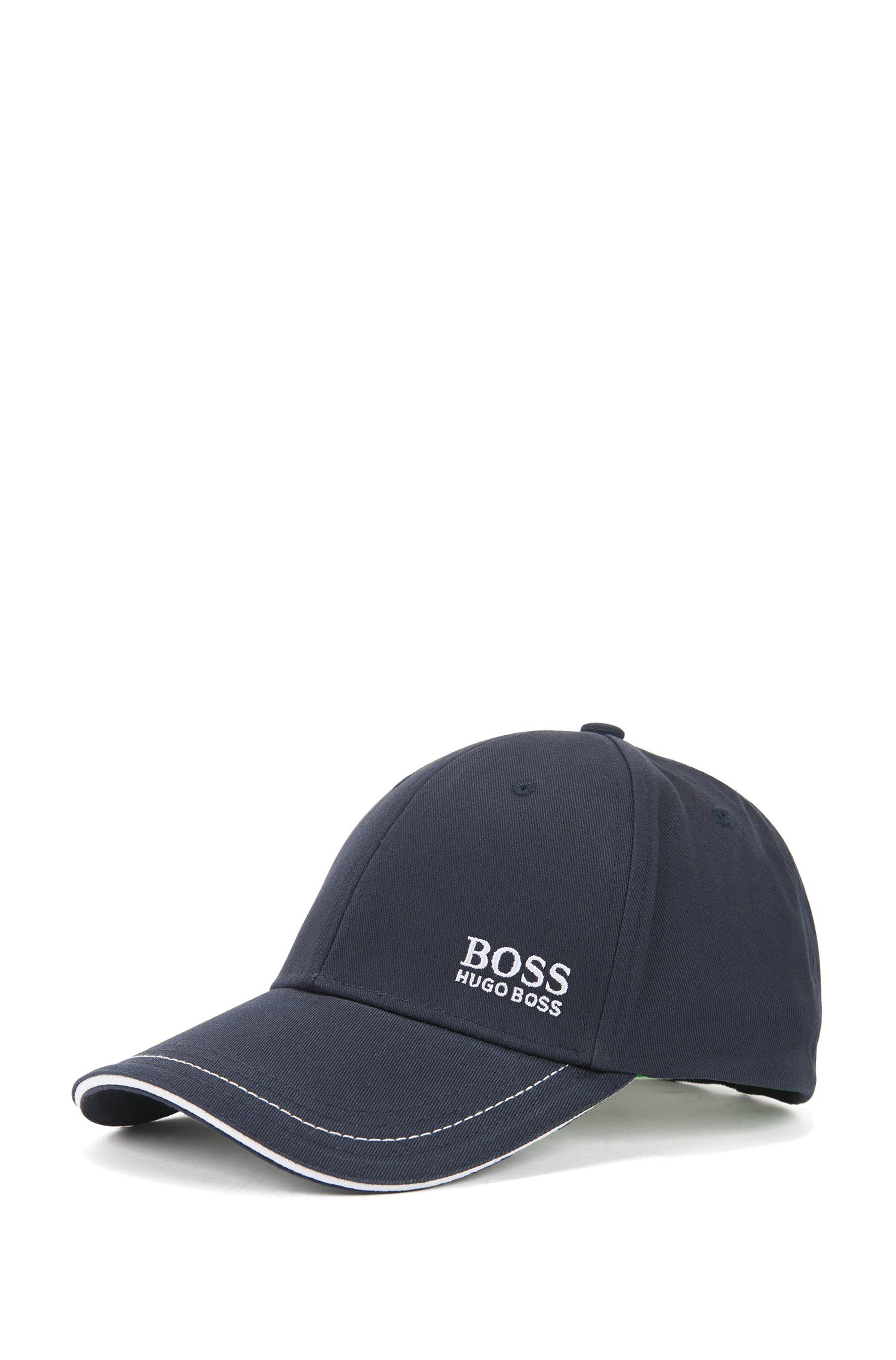 Cotton-twill cap with lasered logo closure, Dark Blue