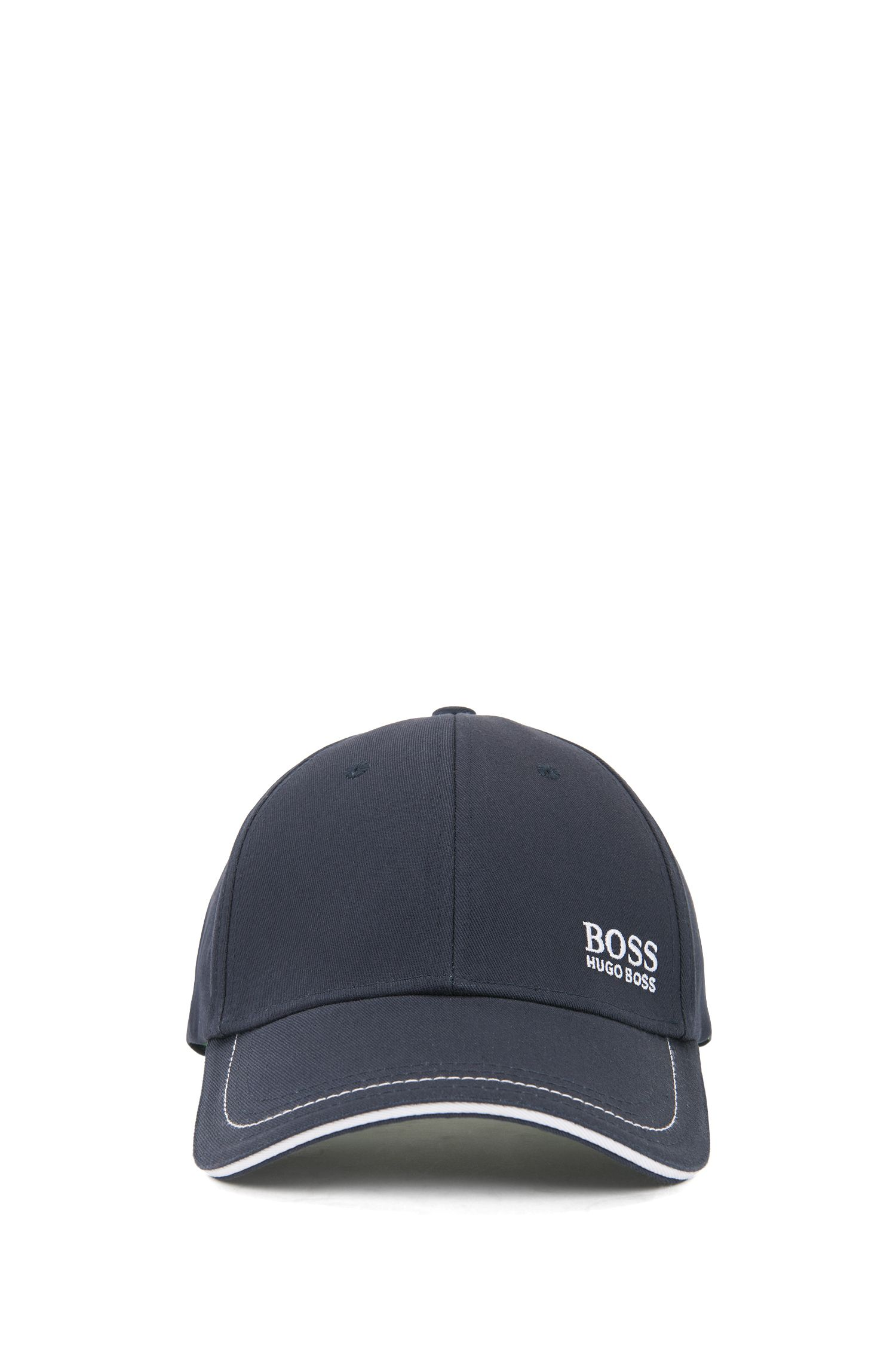 Baseball cap in cotton twill with embroidered logo , Dark Blue