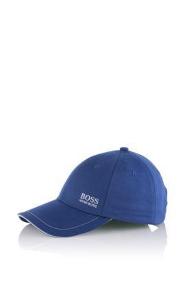 Gorra de béisbol en sarga de algodón con logo bordado , Azul