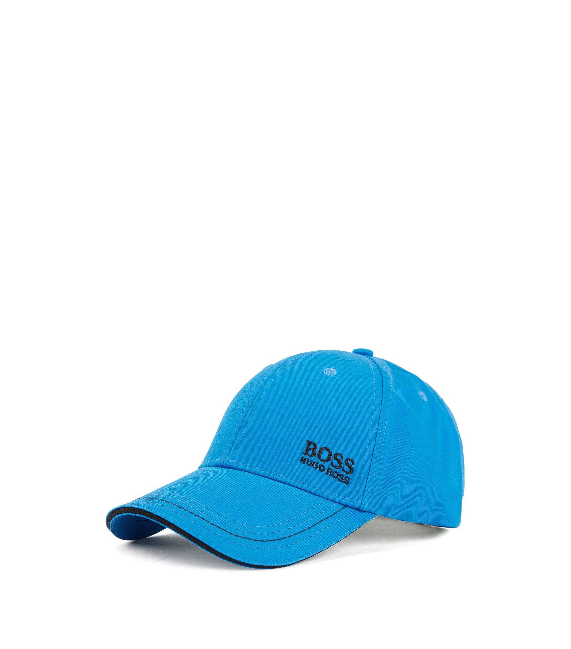 Casquette de base-ball en twill de coton, à logo brodé , Turquoise