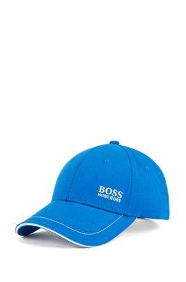Cap aus Baumwoll-Twill mit gelasertem Logo-Verschluss, Blau