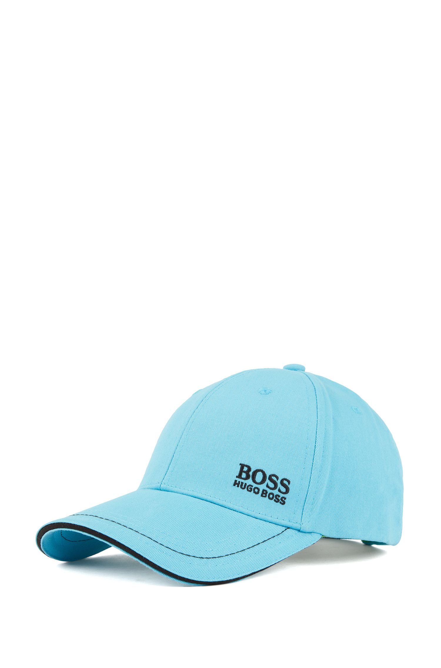 Baseball cap in cotton twill with embroidered logo , Turquoise