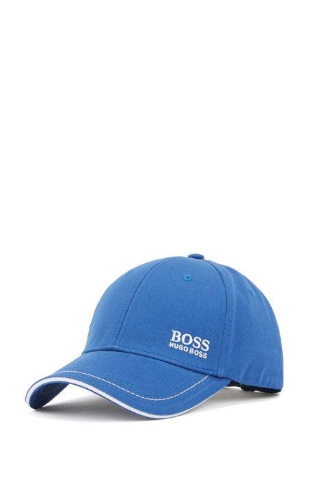 Cap aus Baumwolle mit Logo-Stickerei, Blau