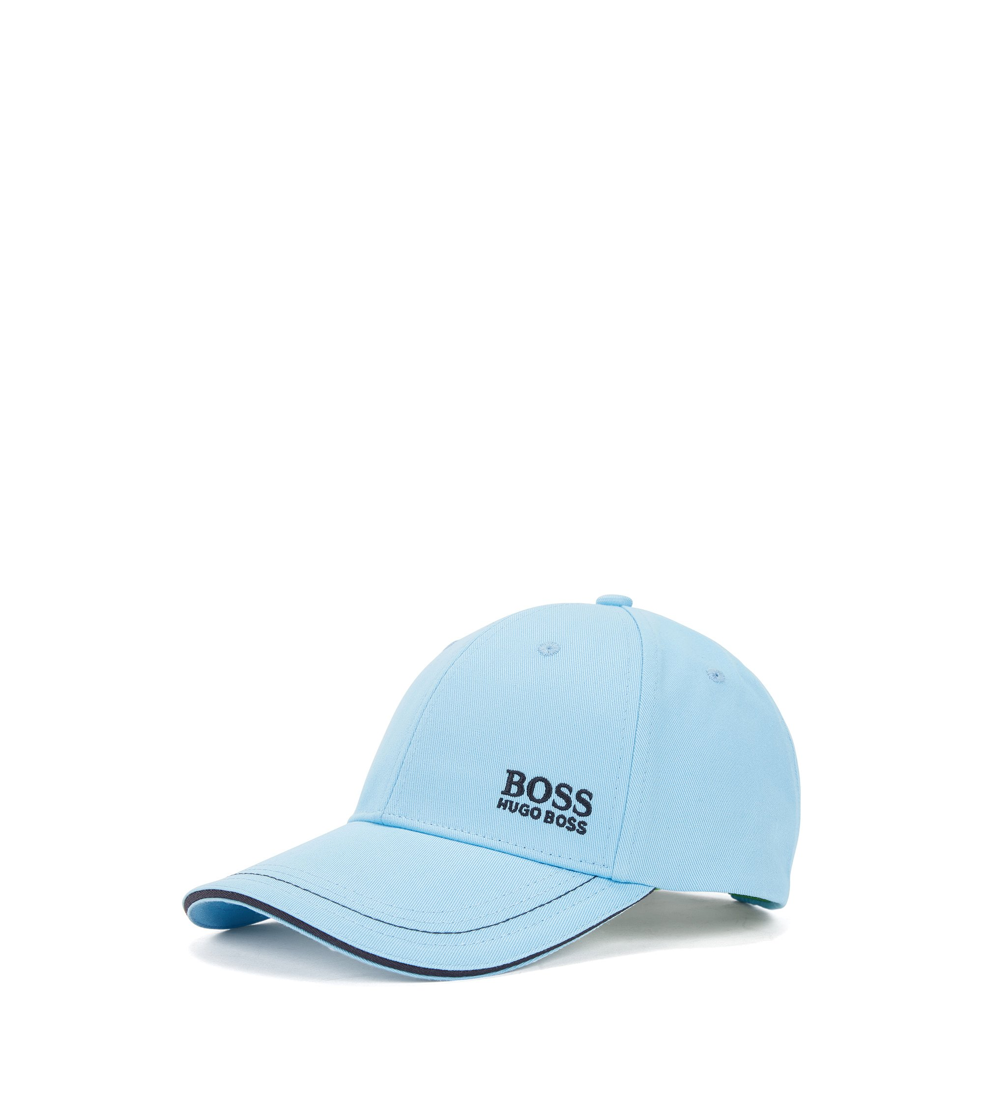 Baseball cap in cotton twill with embroidered logo , Light Blue