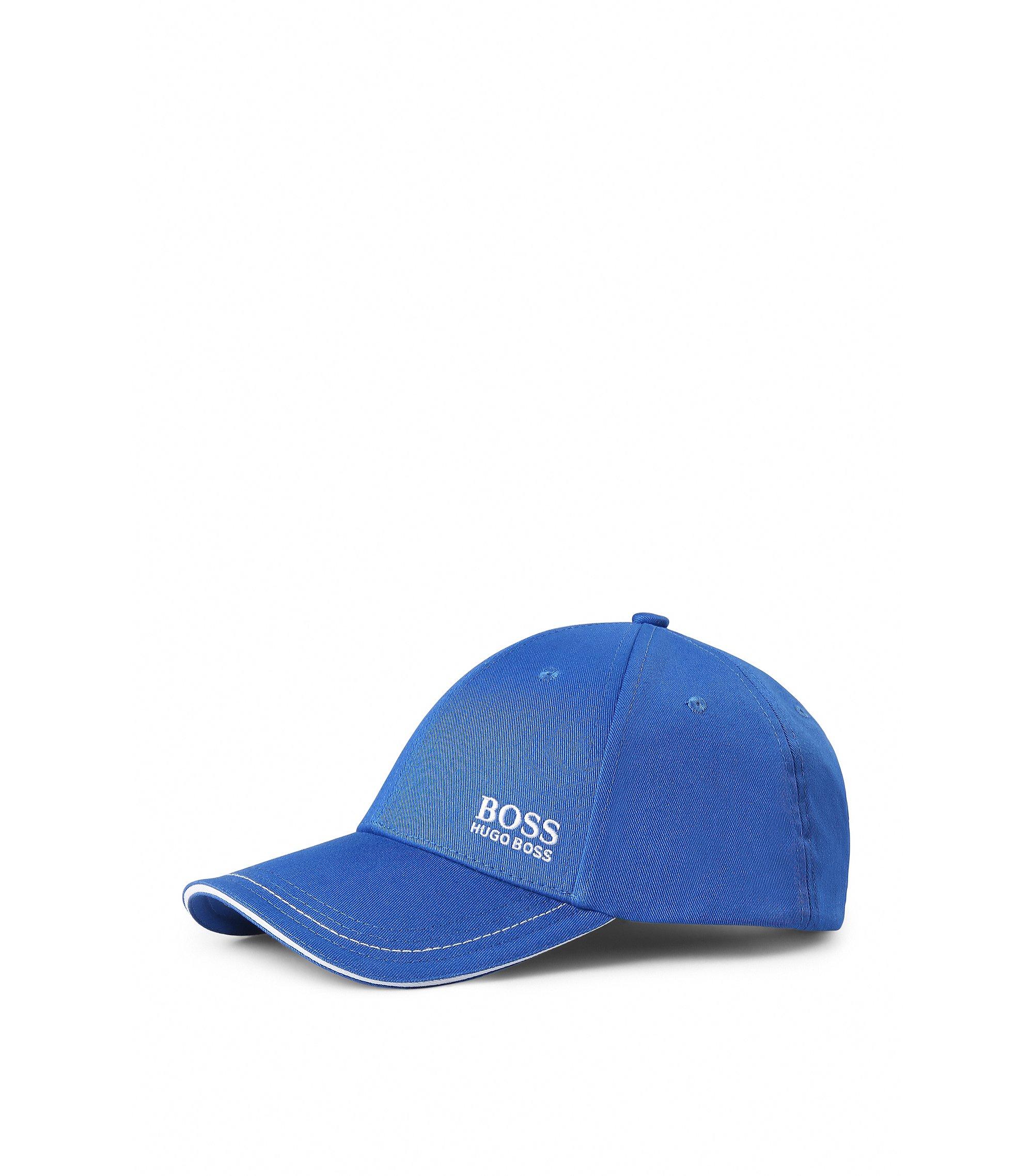 Baseball Cap aus Baumwolle mit Logo-Stickerei, Blau