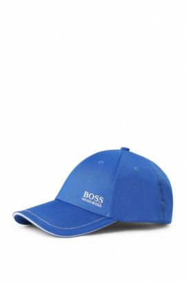 Baseball cap in cotton twill with embroidered logo , Open Blue