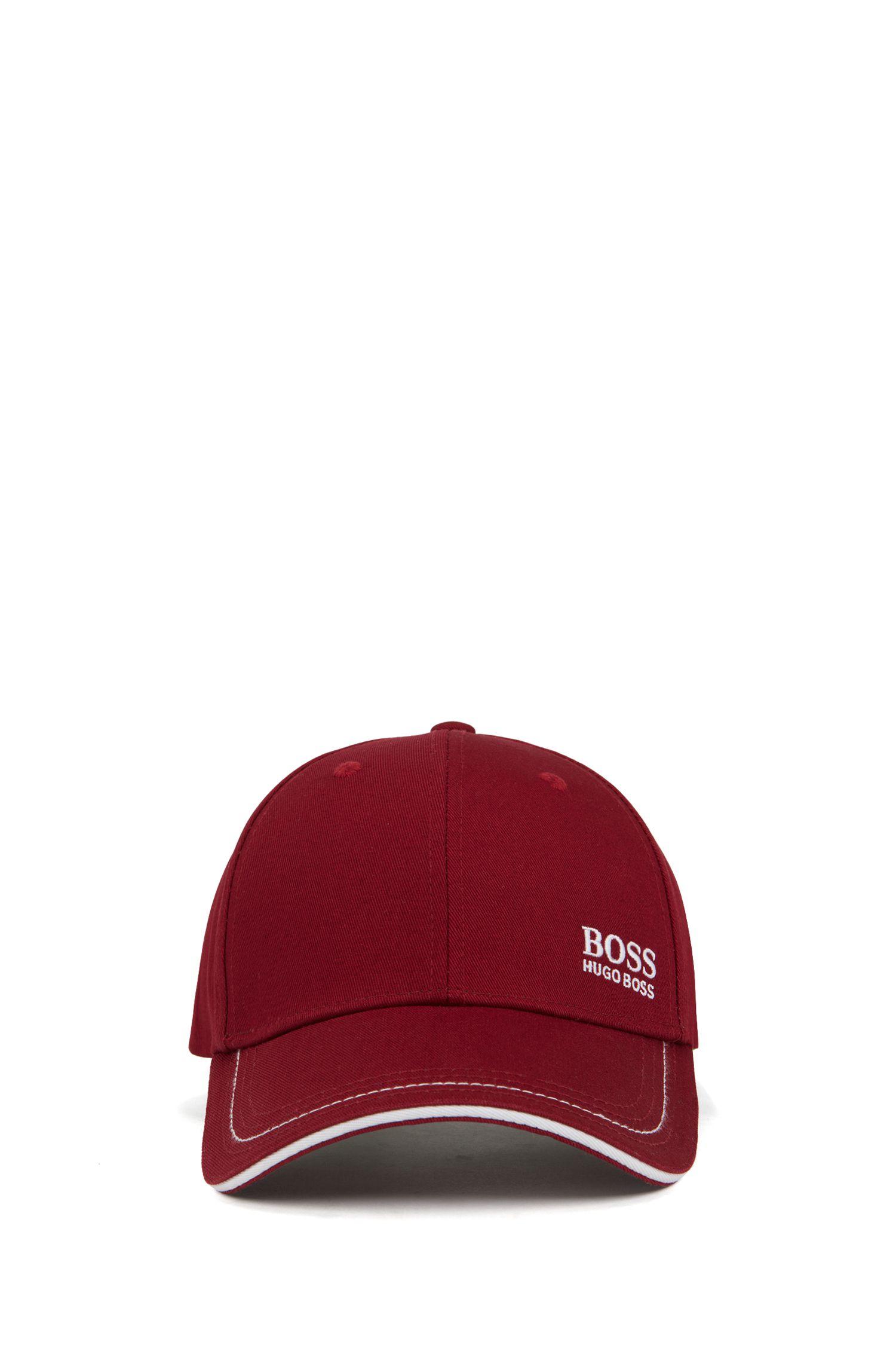 Cappellino da baseball in twill di cotone con logo ricamato , Rosa scuro