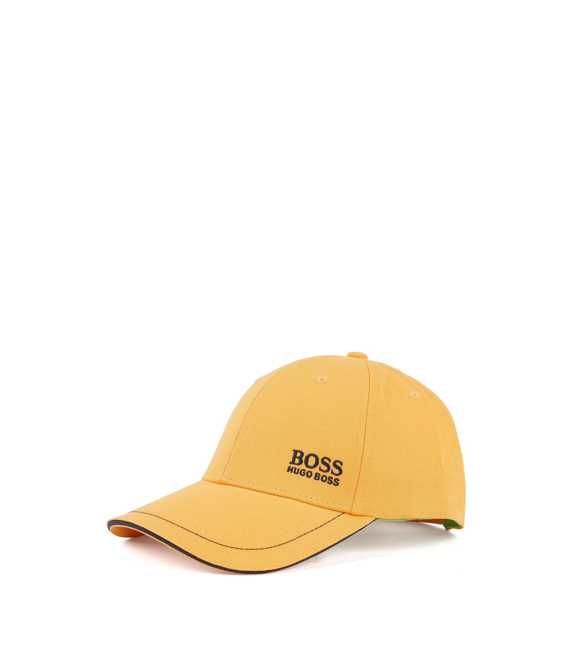 Baseball cap in cotton twill with embroidered logo , Yellow