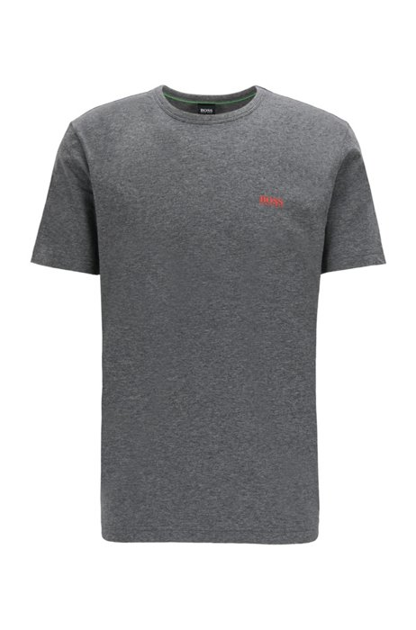 Regular-fit T-shirt with contrast detail, Grey