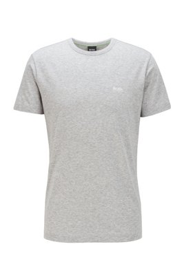T-shirt Regular Fit avec détail contrastant, Gris chiné