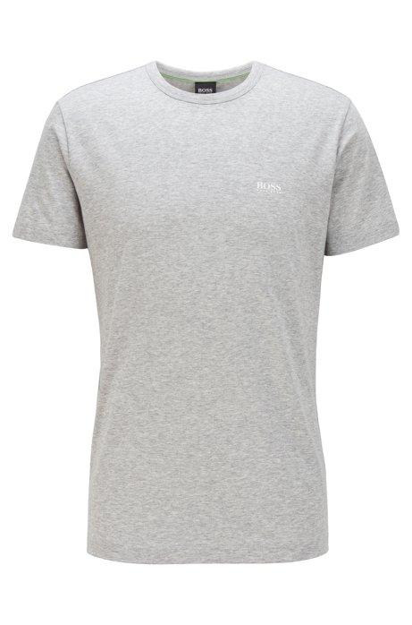T-Shirt mit Kontrast-Detail, Hellgrau