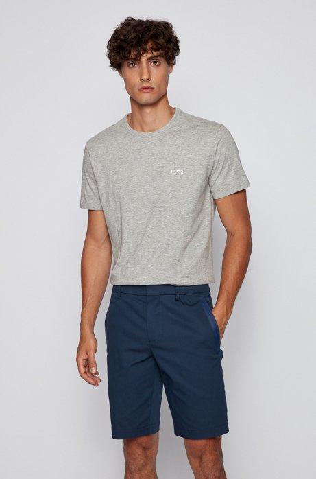 Regular-fit T-shirt with contrast detail, Light Grey