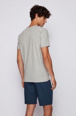 Contrastant Fit T Détail Shirt Regular Avec BEQxoeWrdC