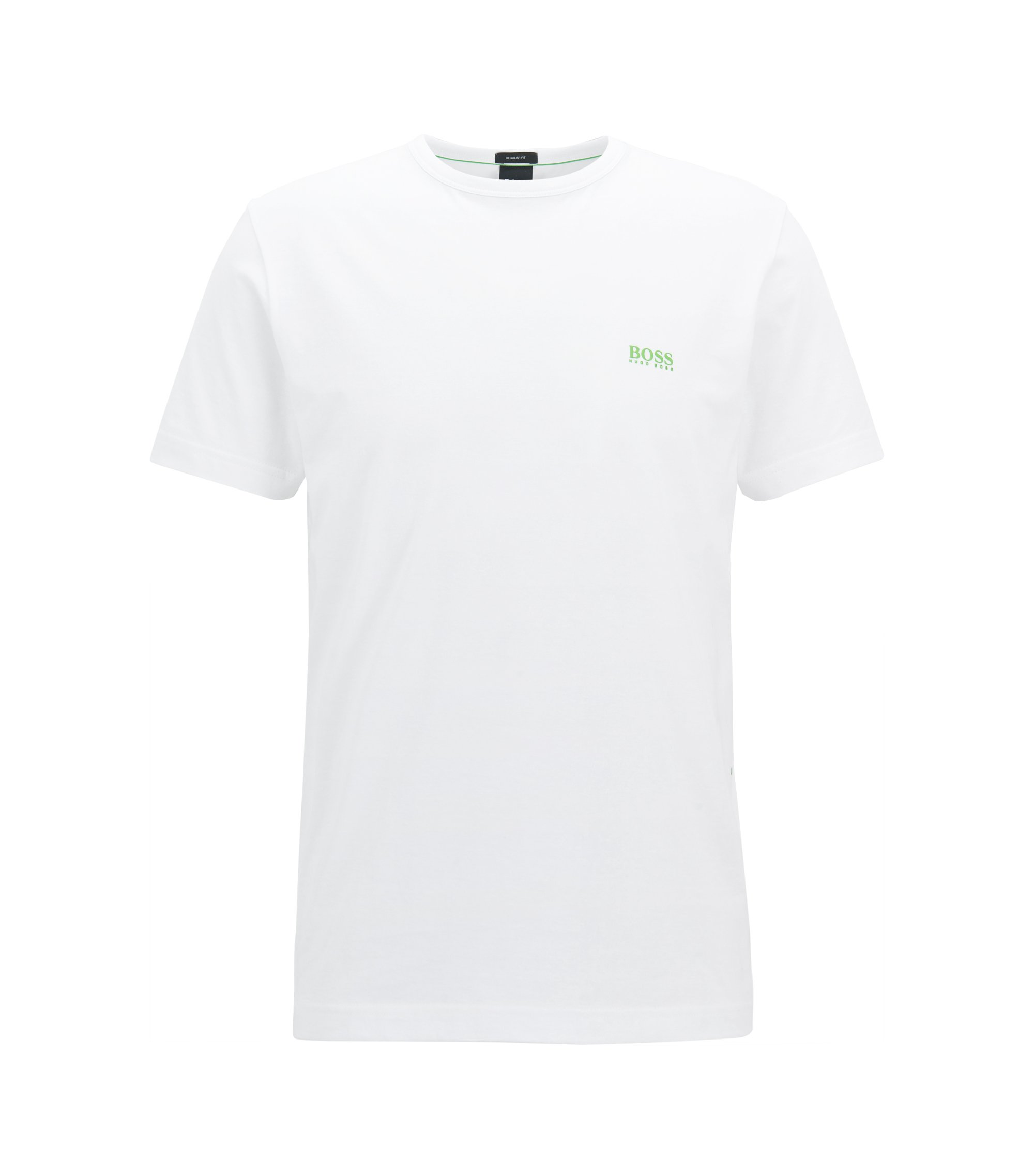 Camiseta regular fit con detalle contrastado, Blanco
