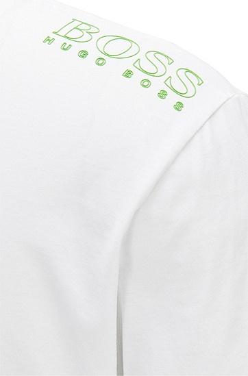 饰有对比细节的常规版T恤,  100_白色
