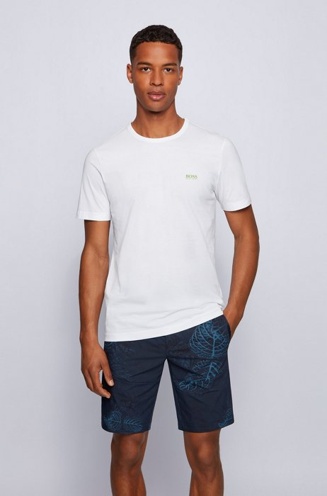Regular-fit T-shirt with contrast detail, White