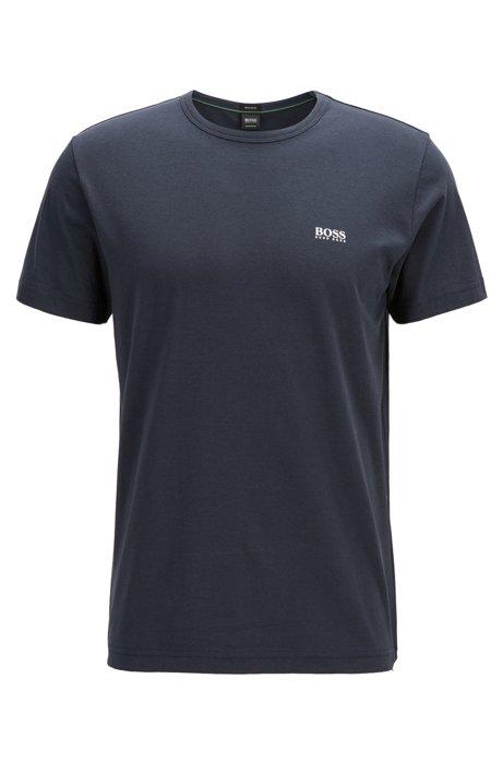 T-shirt Regular Fit avec détail contrastant, Bleu foncé