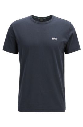 Regular-fit T-shirt met contrastdetail, Donkerblauw