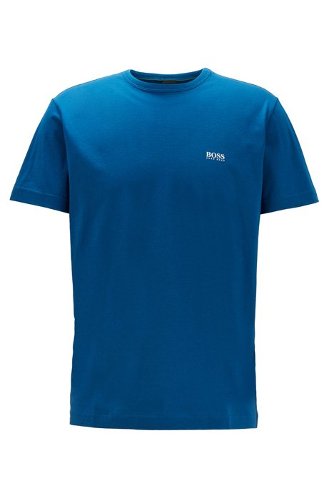 Regular-fit T-shirt with contrast detail, Blue