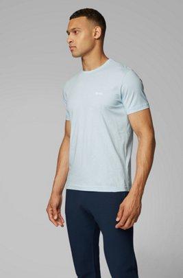 Regular-fit T-shirt with contrast detail, Light Blue