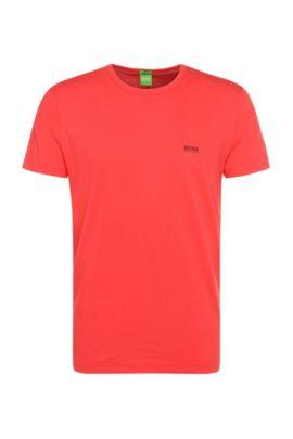 Regular-Fit T-Shirt mit Kontrast-Detail, Hellrot